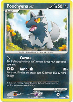 Poochyena 116/146 D&P Legends Awakened Common PERFECT MINT! Pokemon
