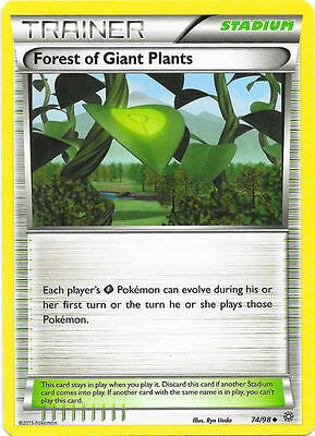 Forest Of Giant Plants 74/98  Xy Ancient Origins Pokemon Trainer Card - In Stock
