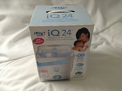 Avent Steam Sterlizer For Baby Bottles  Bpa Free Iq 24 Electric