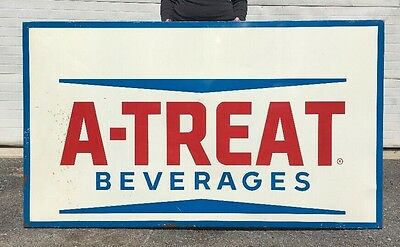Vintage A-treat Sign Large Coca Cola Soda Bottle Beverages