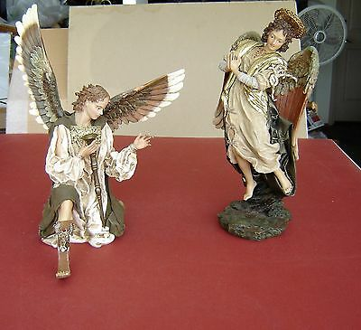 Department 56 Neapolitan Nativity Angel & Angel Gabriel With Horn, Very Rare