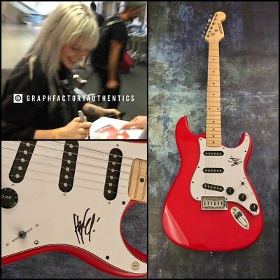 gfa paramore rock star * hayley williams * signed electric guitar proof ad4 coa