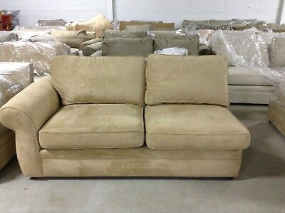 Pottery Barn Pearce Couch Sofa Sectional Oat Everyday Suede Left Arm Loveseat