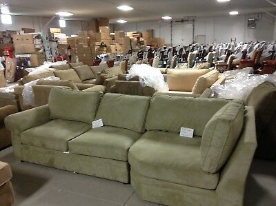 Pottery Barn Pearce Couch Sofa Sectional Jade Stone Left Loveseat Sleeper Wedge