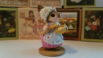 Wee Forest Folk B-09 Batter Bunny Rare Retired Mice Figurine 1977 Signed Ap