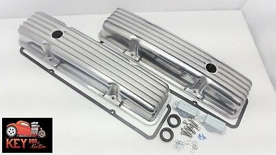 Small Block Chevy Short Finned Aluminum Valve Covers Gaskets Sbc 350 400 327 305