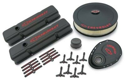 Proform 141-758 Gm Performance Small Block Chevy Black Crinkle Dress-up Kit