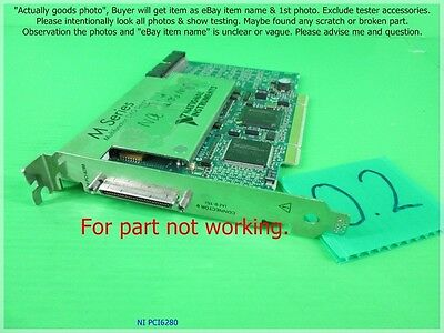 Ni Pci 6280, National Instruments Daq Card As Photo,sn:dφm, For Part Not Working