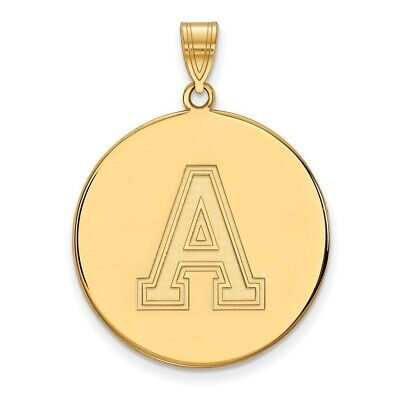 Usma West Point Army Black Knights School Letter Disc Pendant In 14k Yellow Gold