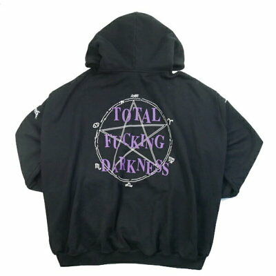 vetements 16aw total f**king darkness big silhouette pullover hoodie black m