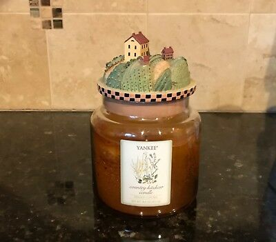 Yankee Candle Country Kitchen Orange Cupcake 14.5 Oz Jar With Home Topper - Rare
