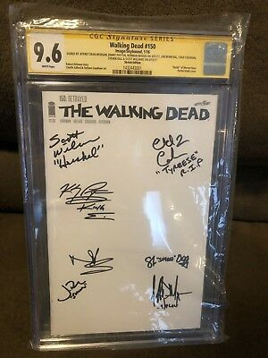Walking Dead 150 Cgc 9.6 7 Cast Members Scott Williams, Morgan, Reedus, Ogg, Hot