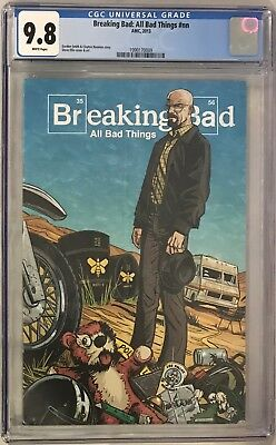 Breaking Bad All Bad Things #nn Comic Book Cgc 9.8 Super Rare! Le Only 500 Made!