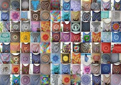 50 Assorted Pc Cotton India Mandala Tapestry Wall Decor Bed Throw Christmas Gift