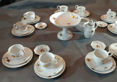 Very Old Extremely Rare 38 Piece Set Of Royal Copenhagen - Marks Vary Pre-1935
