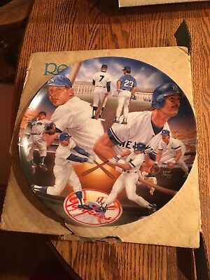 Mantle And Mattingly Yankee Tradition Legends Collectible Plate
