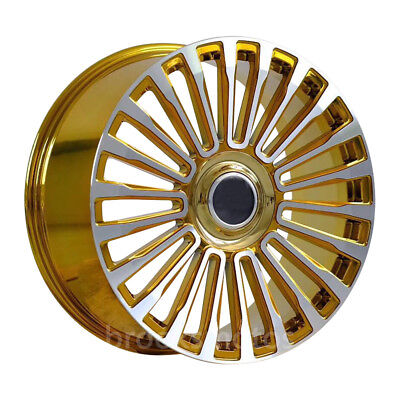 "22"" Multi Gold Style Wheels Rims Fits Range Rover Evoque Velar F-pace 5x108"