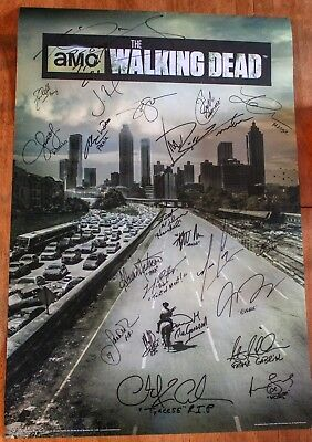 Autographed The Walking Dead Cast Signed Poster 24x36-20+ Authentic Signatures!