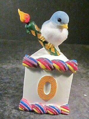 Charming Tails #0 Belle Bluebird Birthday Slice Cake 89/10 Orig Box