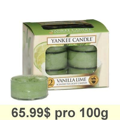 Yankee Candle Tea Light, Vanilla Lime, Scented Candle, Teapot Warmer, Set Of 12