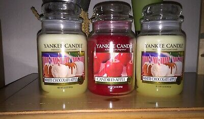 1 Yankee Candle Candied Apple Jar & 2 White Chocolate Apple Jars & 23 Wca Tarts