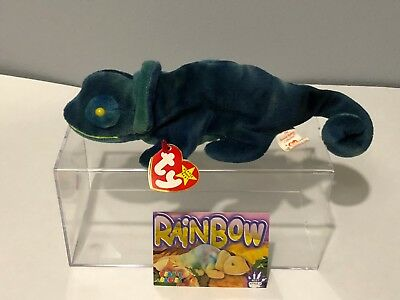 "Ty Beanie Baby - Rare ""rainbow"" Tag On Iggy Body Beanie Baby W/tag 1997 Retired"