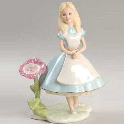 Rrae Lenox 2008 Disney Alice In Wonderland 24 Gold Pottery Figure Ornament Doll