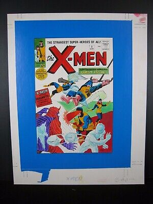 X-men #1 Cover - Marvel Milestone Edition - Original Art - Jack Kirby