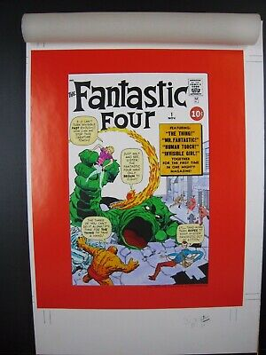 Fantastic Four #1 Cover - Marvel Milestone Edition - Original Art - Jack Kirby