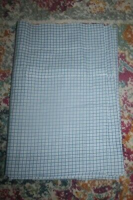 Nwot Laura Ashley /white Plaid Lined Cotton Blouson Valance~87x16 In.