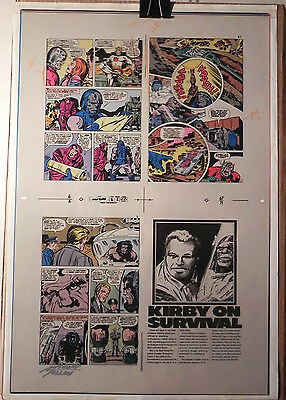 New Gods 6 Flat 2 Jack Kirby Original 3m Color Art Signed Anthony Tollin Coa