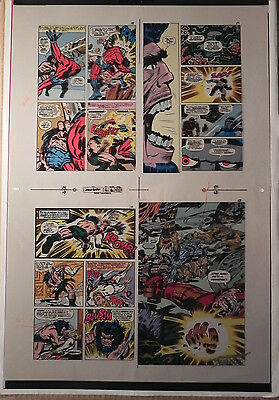 New Gods Book 6 Flat 6 Jack Kirby Original 3m Color Art Signed A. Tollin W/coa