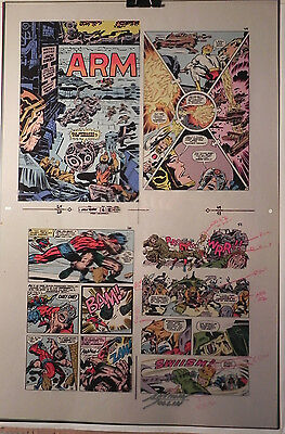 New Gods Book 6 Flat 12 Jack Kirby Original 3m Color Art Signed A. Tollin W/coa