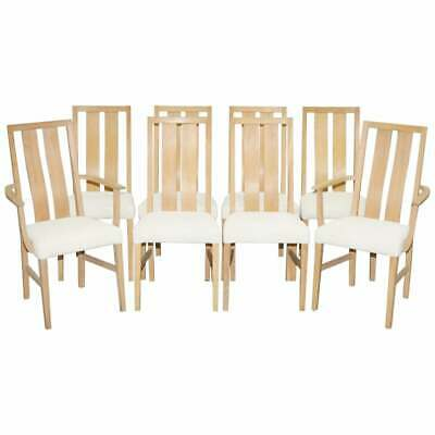 Rare Set Of Eight Orum Mobler Ash Wood Dining Chairs Table & Bookcase Available