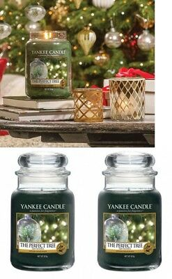 2 Yankee Candle The Perfect Tree 22 Oz Large Jar Candle-balsam Fir Pine Lot Two