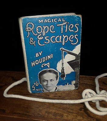 """""""magical Rope Ties & Escapes"""" By Harry Houdini (1st Ed) 1921, Rare, Free Shippng"""