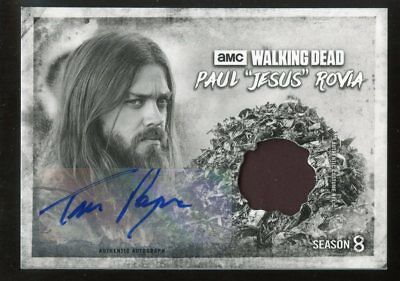 "Topps Walking Dead Season 8 B&w Auto/relic Tom Payne As Paul ""jesus"" Rovia #4/5"
