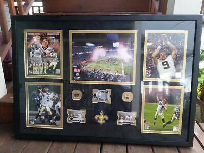 New Orleans Saints Super Bowl 44 Autograph Drew Brees 8x10 Photo Picture Framed