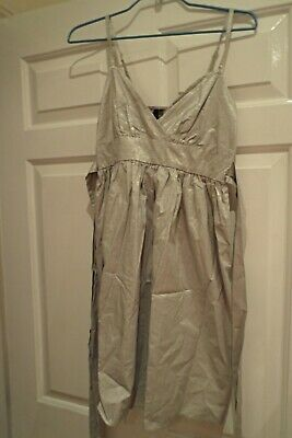 topshop womens gold/silver summer party dress size 8