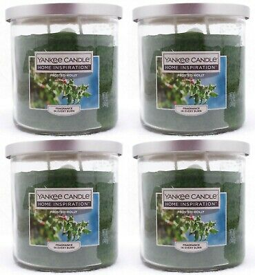 4 Jars Yankee Candle Frosted Holly Scented Candle 12 Oz