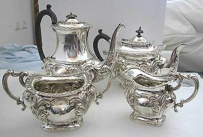 A Fine Four-piece U.k Sterling Silver Tea And Coffee Set -by S.g Birmingham 1927