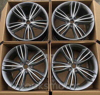 "20"" Staggered Style Alloy Wheels Rims For Jaguar Xjl Xj 20x9/10 5x108 Set Of 4"