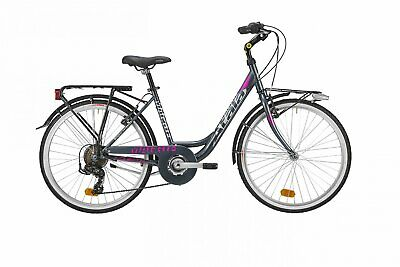 "Bicycle Unisex Atala Maggie 7v 2019 Shimano Walking Steel 24 "" Black"