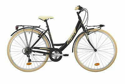 Bicycle Unisex Atala Toscana 28 6v 2019 Shimano Walking White Alu Black