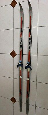 Troll Ski Cross Country Wooden Skis Made In Norway 74""