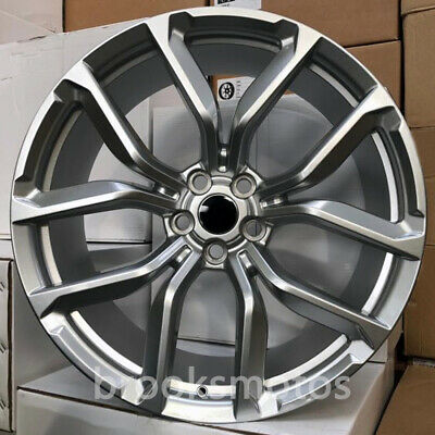 "20"" Silver Svr Style Wheels Rims  20x9.5 Offset45 5x108 63.4 Set Of 4"
