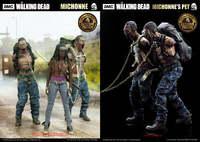 1/6 Threezero Michonne The Walking Dead With 2 Pets Zombies Deluxe Ver. Instock