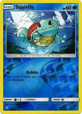 Squirtle 33/214 S&M Unbroken Bonds REVERSE HOLO PERFECT MINT! Pokemon