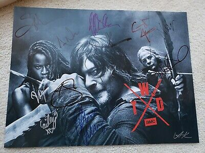 The Walking Dead Sdcc 2019 Signed Poster Comic Con Norman Reedus