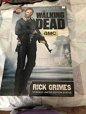 Walking Dead Amc Rick Grimes 1:4 Scale Limited Edition Statue (#285 Of 400)